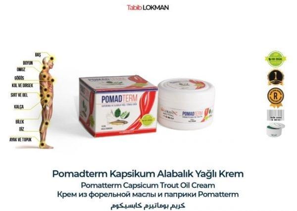 Pomadterm Kapsikum Alabalık Yağlı Krem Tabib Lokman